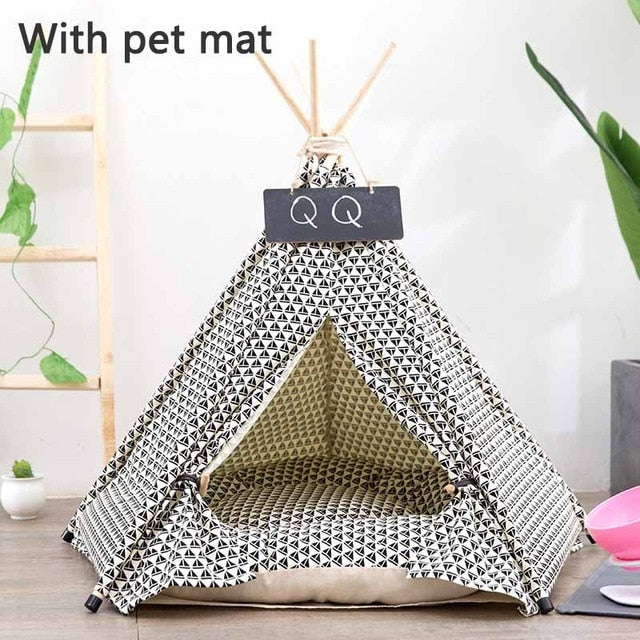 Teepee Dog Bed Lovin Little Greys - With petmat / S: 40x40x50cm