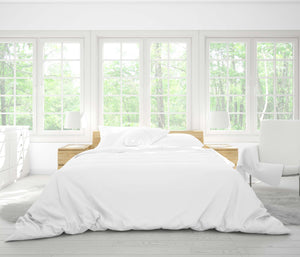 Six Piece Tencel Bedding Set in Snow White