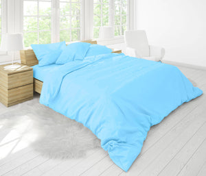 Easy Fit Duvet Cover in Blue Grass