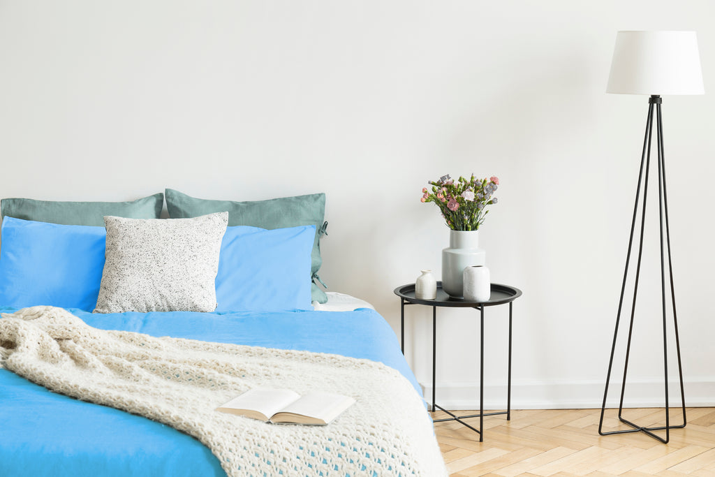Easy Fit Duvet Cover in Bright Blue