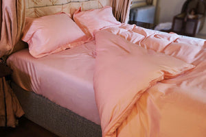 Fitted Sheet in Blush Pink