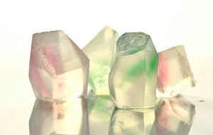 soap crystals made with glycerin and essential oils