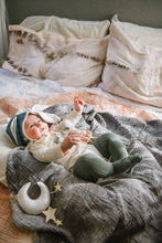 Load image into Gallery viewer, Organic Cotton Swaddle - Charcoal Geode Naturally Dyed WH - Baby Jives Co