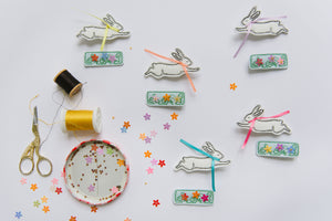 Rabbit + Flower Bed Clips