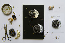 Load image into Gallery viewer, Gold Moon Phase Clips - Baby Jives Co