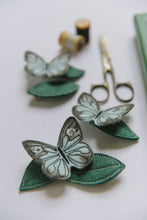 Load image into Gallery viewer, Ice Blue Butterfly + Leaf Clips - Baby Jives Co