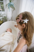 Load image into Gallery viewer, Rose + Silver Dragon Clips - Baby Jives Co