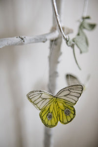 Butterfly Mobile - Yellow, Green + Silver