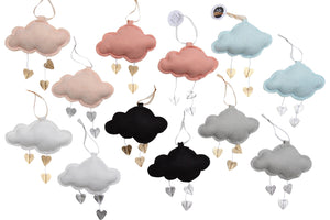 LUXE Mini Heart Cloud VARIETY PACK WH - Baby Jives Co