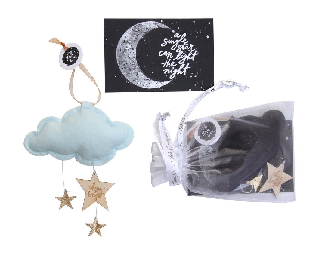 Luxe Mini Star Cloud Keepsake WH - Baby Jives Co