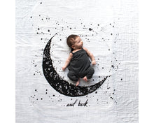 Load image into Gallery viewer, Organic Cotton Swaddle - Moon and Back (WH) - Baby Jives Co