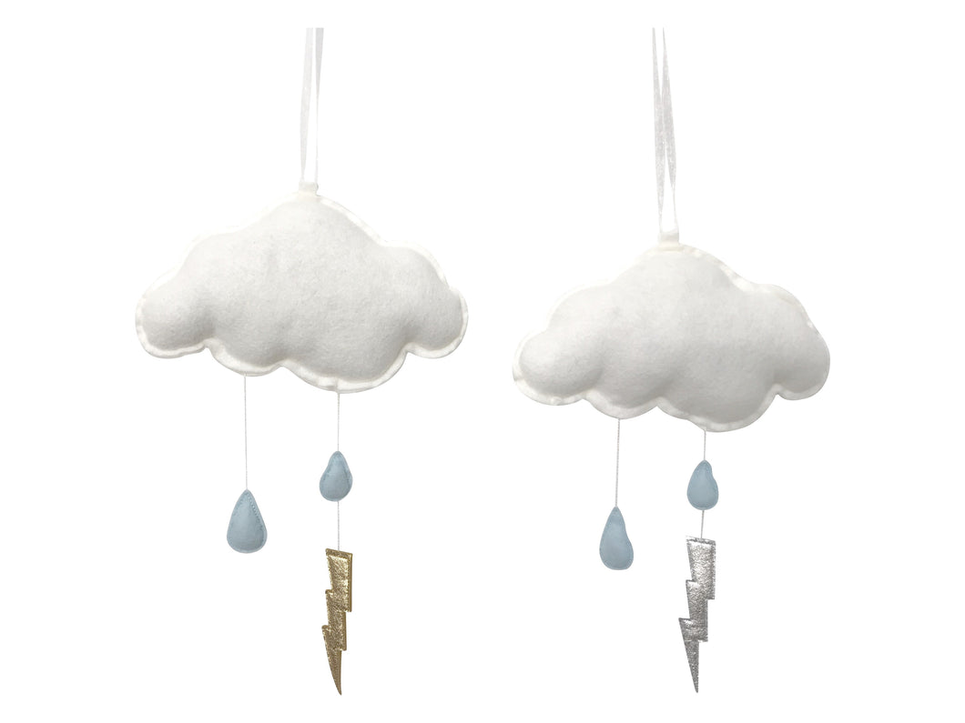 Blue Storm Cloud Wall Hung Mobile (WH) - Baby Jives Co