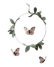 Load image into Gallery viewer, Butterfly Mobile - Blush, Green + Silver