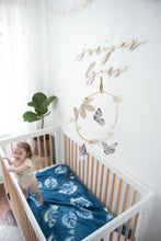 Load image into Gallery viewer, Butterfly Luxe Mobile in Indigo, Gold and White (WH) - Baby Jives Co