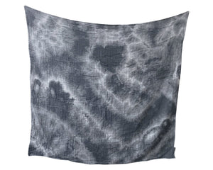 Organic Cotton Swaddle - Charcoal Geode Naturally Dyed WH - Baby Jives Co