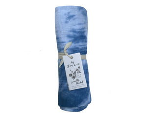 Indigo Geode Naturally Dyed - Organic Cotton Swaddle