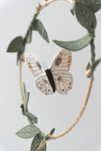 Load image into Gallery viewer, Luna Moth Luxe Mobile in White, Gold and Green (WH) - Baby Jives Co