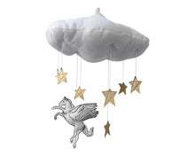 Load image into Gallery viewer, Pegasus Starry Cloud Mobile - Baby Jives Co