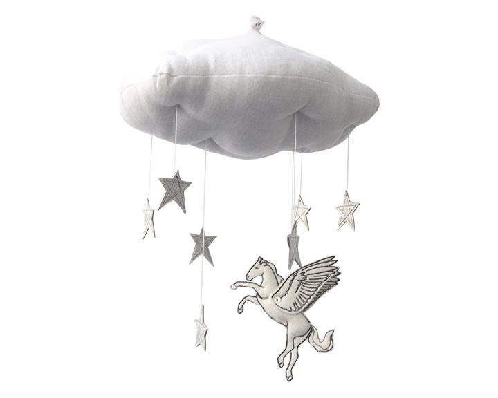 Pegasus Starry Cloud Mobile - Baby Jives Co