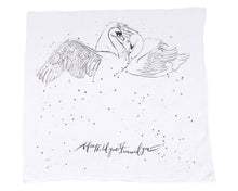 Load image into Gallery viewer, Organic Cotton Swaddle Blanket - Swans (WH) - Baby Jives Co