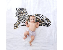 Load image into Gallery viewer, Organic Cotton Swaddle Blanket - Tiger (WH) - Baby Jives Co