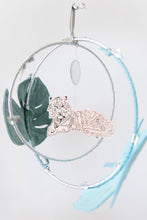 Load image into Gallery viewer, Tiger in the Jungle Luxe Mobile in Peach and Silver (WH) - Baby Jives Co