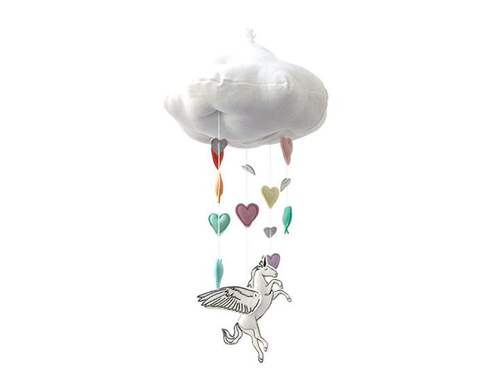 Alicorn Rainbow Cloud Mobile - Baby Jives Co