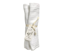 Load image into Gallery viewer, White Organic Cotton Gauze Swaddle - Baby Jives Co