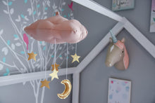 Load image into Gallery viewer, Standard Star Cloud Mobile in Rose and Gold WH - Baby Jives Co