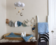Load image into Gallery viewer, Standard Star Cloud Mobile in White and Gold WH - Baby Jives Co