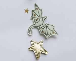 Green + Gold Dragon Clips - Baby Jives Co