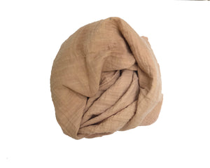 Honey Watercolor Naturally Dyed - Organic Cotton Swaddle