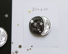 Load image into Gallery viewer, Silver Moon Phase Clips - Baby Jives Co