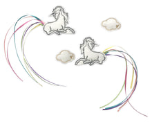 Load image into Gallery viewer, White Unicorn + Cloud Clips - Baby Jives Co