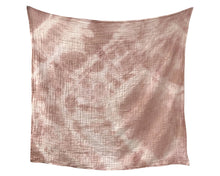 Load image into Gallery viewer, Organic Cotton Swaddle - Rose Geode Naturally Dyed WH - Baby Jives Co