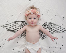 Load image into Gallery viewer, Organic Cotton Swaddle - Angel Wings (WH) - Baby Jives Co