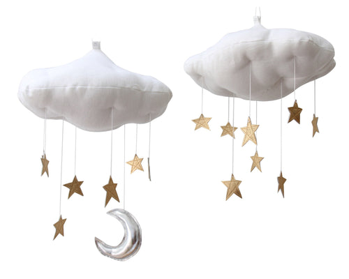 Luxe Gold Star Cloud Mobile WH - Baby Jives Co