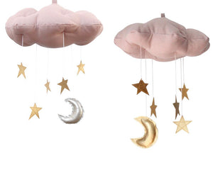 Standard Star Cloud Mobile in Rose and Gold WH - Baby Jives Co