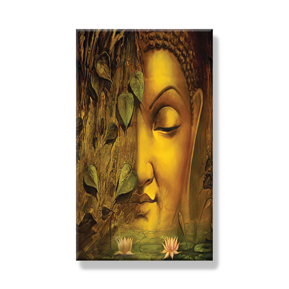 Buddha Face with leaves Frame - Dandelion Lifestyle