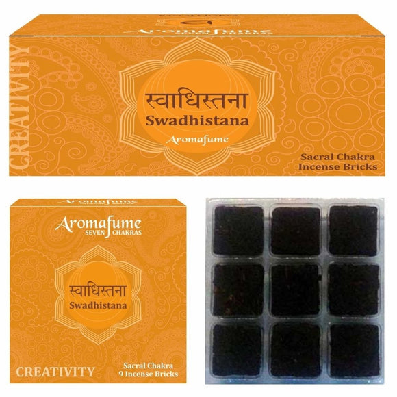 SWADHISTANA - SACRAL CHAKRA - EXOTIC INCENSE BRICKS - Dandelion Lifestyle