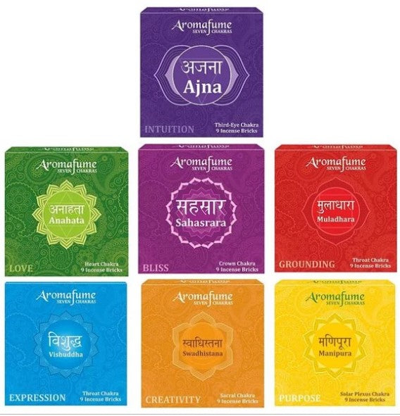 7 CHAKRA INCENSE BRICKS - SET OF 7 - Dandelion Lifestyle