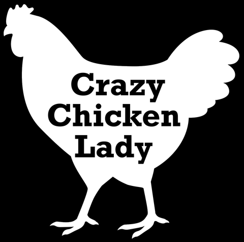 Vehicle Decal, Crazy Chicken Lady