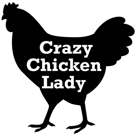 Sticker, Crazy Chicken Lady