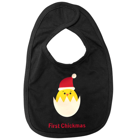 Infant Premium Jersey Bib, First Chickmas