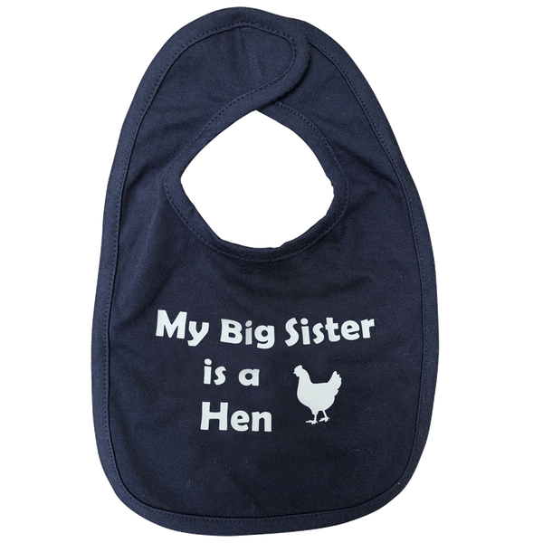 Infant Premium Jersey Bib, My Big Sister is a Hen