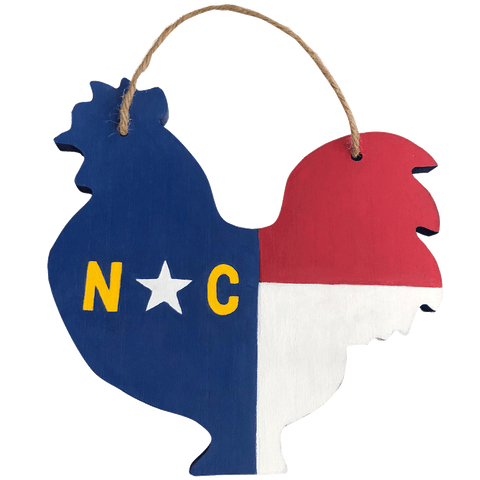 North Carolina Chicken Cut Out Wooden Sign