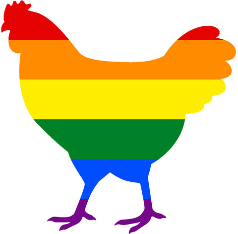 Magnet, Rainbow Chicken