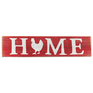 Home Chicken Sign Red and White