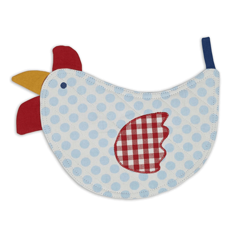 Polka Dot Chicken-Shaped Potholder
