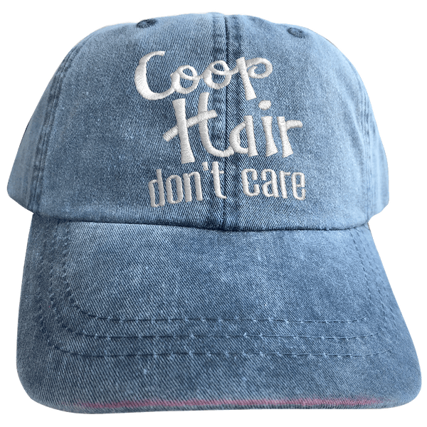 Pigment-Dyed Cap, Coop Hair Don't Care
